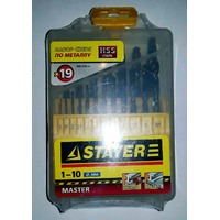 Набор сверл от 1,0 до 10,мм (19шт) по металлу Stayer