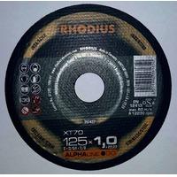 Круг отрезной 125х1.0х22  нерж. (RHODIUS)